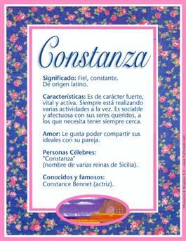 Nombre Constanza