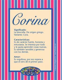 Nombre Corina