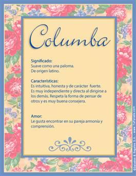 Nombre Columba