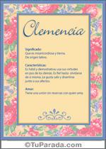 Nombre Clemencia