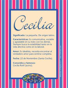 Nombre Cecilia