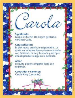Nombre Carola