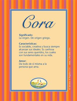 Nombre Cora