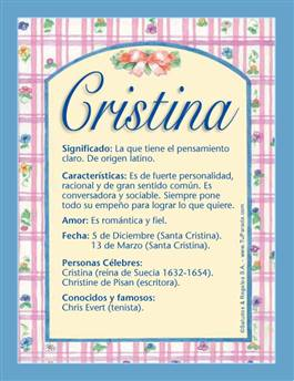 Nombre Cristina