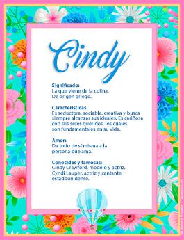 Nombre Cindy