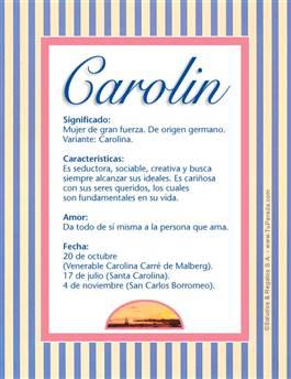 Nombre Carolin