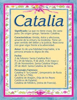 Nombre Catalia