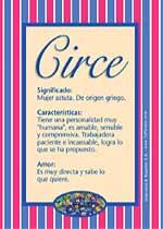 Nombre Circe
