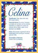 Nombre Celina