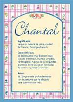 Nombre Chantal