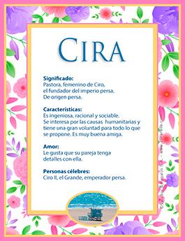 Nombre Cira