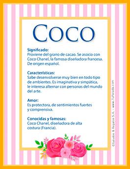 Nombre Coco