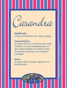 Nombre Casandra