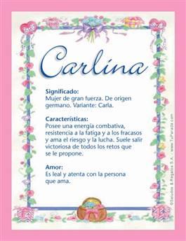 Nombre Carlina