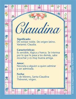 Nombre Claudina