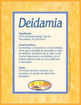 Nombre Deidamia