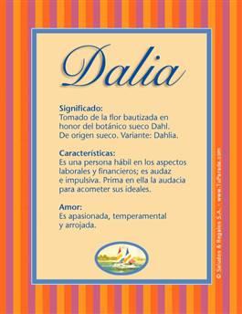 Nombre Dalia