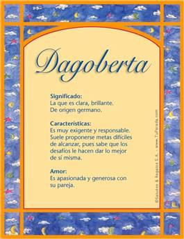 Nombre Dagoberta