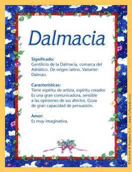 Nombre Dalmacia