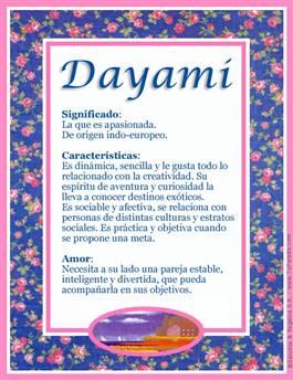 Nombre Dayami