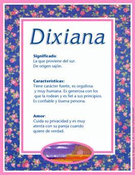 Nombre Dixiana