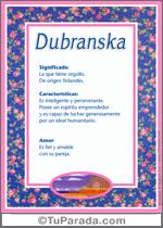 Dubranska