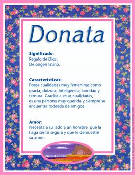 Nombre Donata