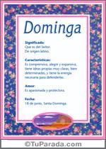 Nombre Dominga