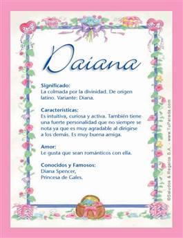 Nombre Daiana