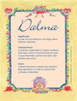 Nombre Dalma