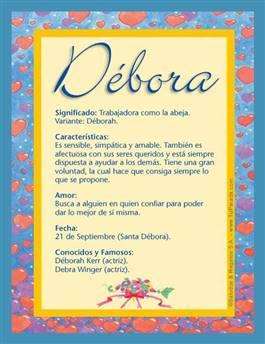 Nombre Débora