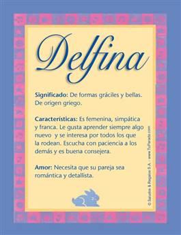 Nombre Delfina