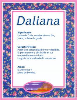 Nombre Daliana