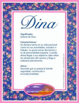 Nombre Dina