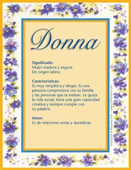 Nombre Donna