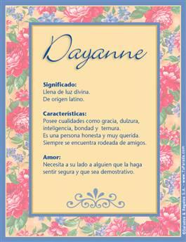 Nombre Dayanne