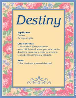Nombre Destiny