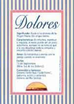 Nombre Dolores