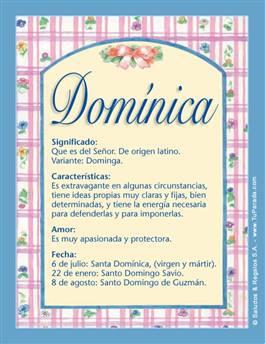 Nombre Domínica