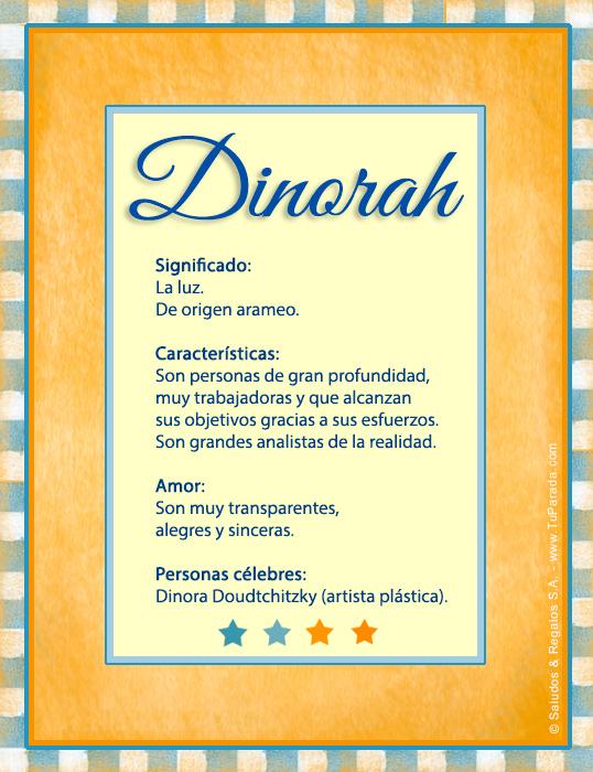 Dinorah, imagen de Dinorah