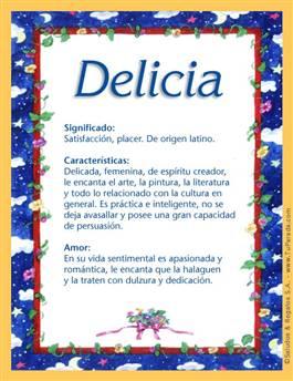 Nombre Delicia