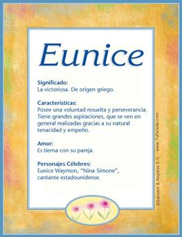 Nombre Eunice