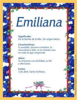 Nombre Emiliana