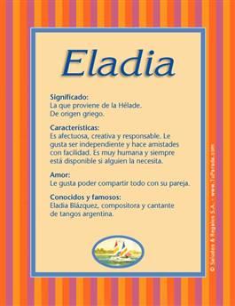 Nombre Eladia