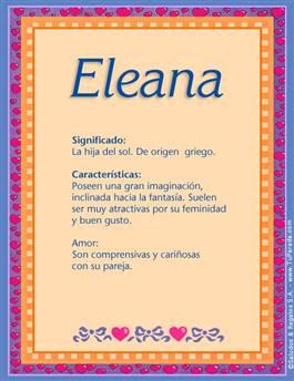 Nombre Eleana