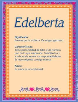 Nombre Edelberta