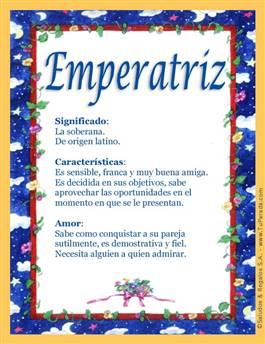 Nombre Emperatriz