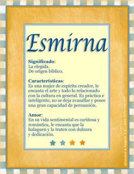 Nombre Esmirna