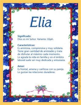 Nombre Elia