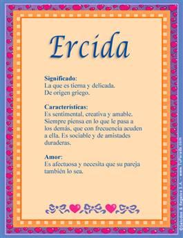 Nombre Ercida